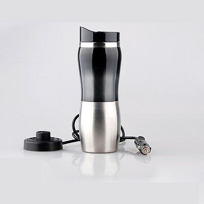 Portable Car 12V Stainless Steel Kettle Cup Warm Water 100° Hot Water kettle cup