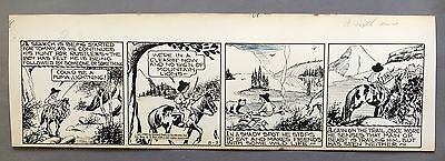 Broncho Bill Daily 8-2-45, Original art Harry O'Neill