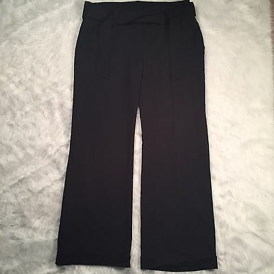 Isabella Oliver 4 (US Size 10) Black Garbo Maternity Pants Career Trousers 4R