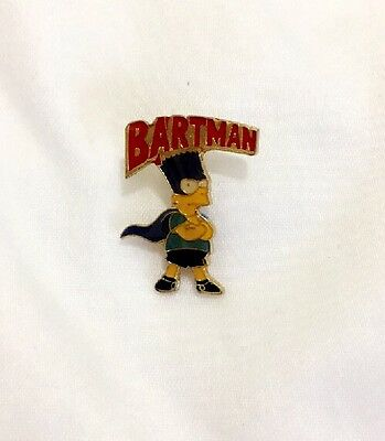 Rare C3 PIN THE SIMPSONS Bart BARTMAN BD CARTOON COMICS MOVIE Vgt Vintage
