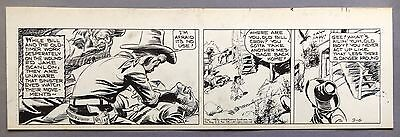 Broncho Bill Daily 9-6-45, Original art Harry O'Neill