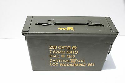 USGI 1 (One) 30 Cal Ammo Can Box M19A1 Military Grade 2 Very Good .30 Caliber