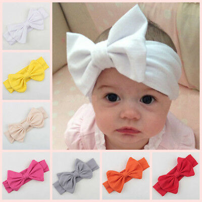 10pcs Kids Girl Baby Toddler Infant Bow Headband Hair Band Accessories Headwear