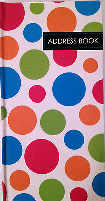 NEW Hardcover Address Book Dots FREE Postage