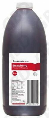 4x ESSENTIALS CHEF STRAWBERRY TOPPING 3L