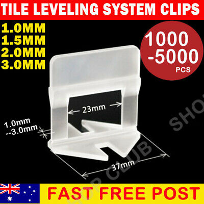 600/800/1000/2000x Tile Leveling System Clips Levelling Spacer Tool Wall Floor
