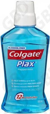 4x COLGATE MOUTHWASH PLAX PEPPERMINT 500ML