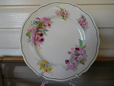 "Royal Doulton ""Orchid"" Dinner Plate D5215 Made In England 1930s"