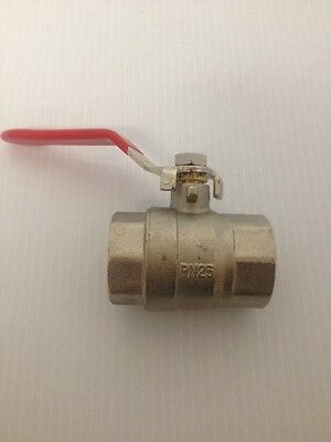 "1"" INCH BRASS BALL VALVE NEW Full Bore 200 PSI NPT PIPE THREADS ONE INCH"