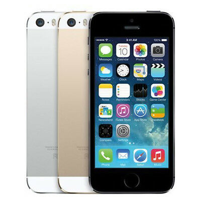 Apple iPhone 5S 16/32/64GB Silver Grey Gold Unlocked Smartphone All Colours SALE