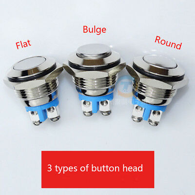 Metal 16mm Off(On) Waterproof Push Button Momentary Switch SPST