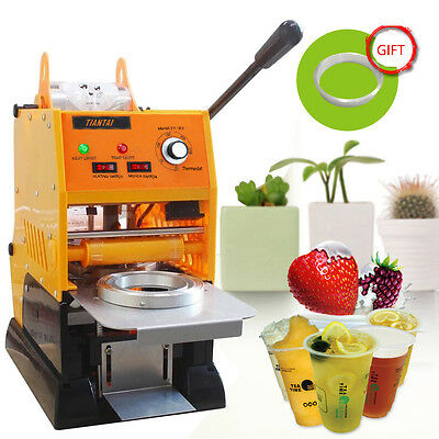 220V 315W Electric Automatic Tea Cup Sealer Sealing Machine Bubble 500 Cups/h