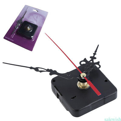 Silent Black Quartz Clock Movement long shaft Spindle Mechanism Repair Tool R5