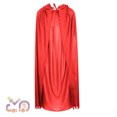World Book Day Adult Ladies Red Riding Hood Cape Long Cape Fancy Dress Costume