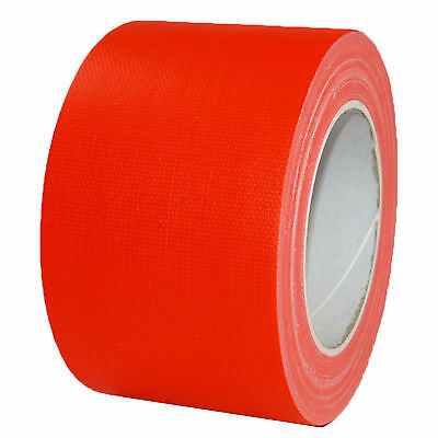 NEON Gaffa Tape Klebeband Orange UV-aktiv 75mm x 25m Gewebeband Panzertape