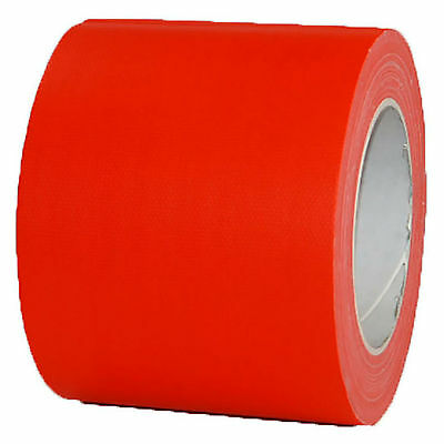 NEON Gaffa Tape Klebeband Orange UV-aktiv 100mm x 25m Gewebeband Panzertape