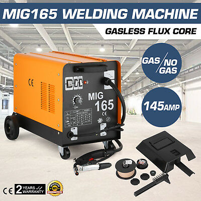 Mig165 Gasless Flux Core Welding Machine Professional Industrial Durable 145AMP