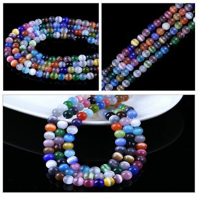 6/8/10MM Cat's Eye Opal Stones Spacer Loose Beads Accessories For DIY Jewelry