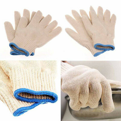 12x Labour Work Protection Armor Gloves White String Cotton Knitted Yarn Factory