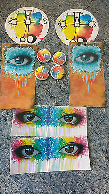 Collection Of My Dog Sighs Art Work On Stickers & Fridge Magnets
