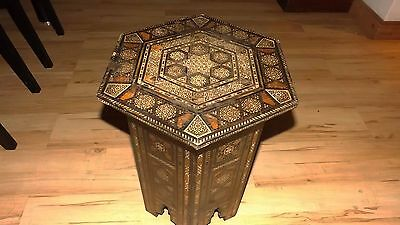 islamic antique occasional inlaid table