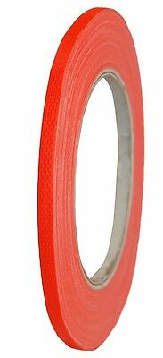 NEON Gaffa Tape 9mm x 25m Klebeband Orange UV-aktiv  Gewebeband Panzertape