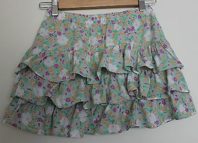 COUNTRY ROAD ~ Girls Mint Green White Yellow Floral Cotton Cha Cha Skirt ~ 10