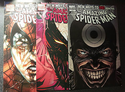 Spiderman, The Amazing 570, 571, 572 - Variant Covers (Modern Age 2008)