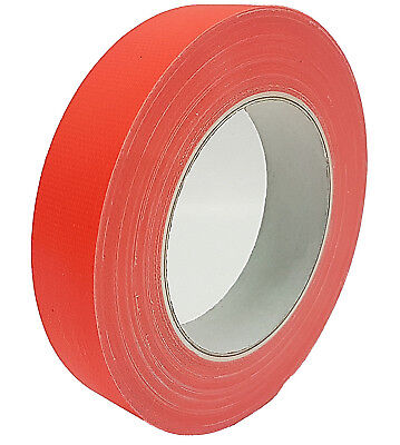 NEON Gaffa Tape Klebeband Orange UV-aktiv 25mm x 25m Gewebeband Panzertape