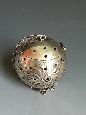 Antique Frank Whiting Co Sterling Tea Ball Tea Strainer