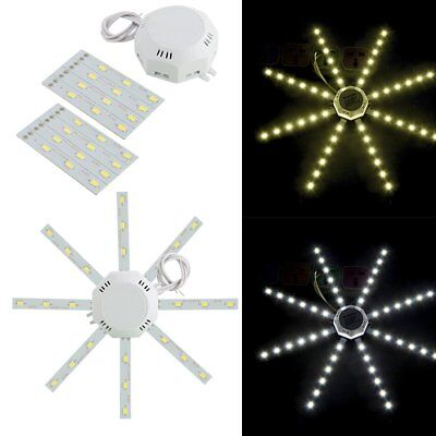 12/16/20/24W 5730SMD 220V LED Octopus Round Home Ceiling Panel Down Light Lamp