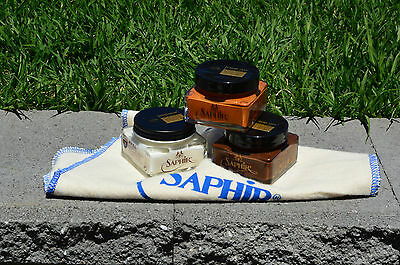 Shoe Lovers Care Kit - Saphir Renovateur, 2x Pommadier Cream Polish with cloth