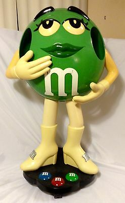"Green M&m Store Candy Display 40"" Tall"