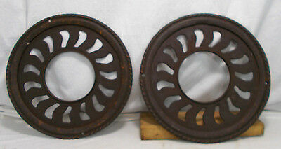 Antique Round Cast Ornate Grate Floor Heat Register Vent Salvage PARTS 2 avail