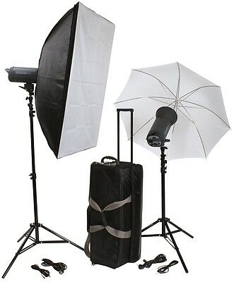 B.I.G. Helios 600P 2er Profi-Blitzstudio-Set with accessories