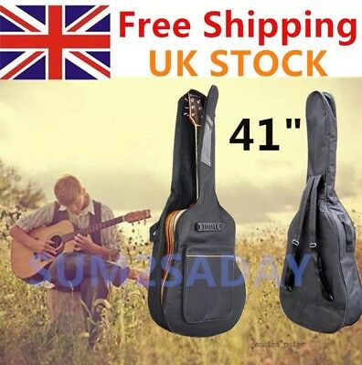 Full Size Padded Protective Classical Acoustic Guitar Back Bag Carry Case 41""