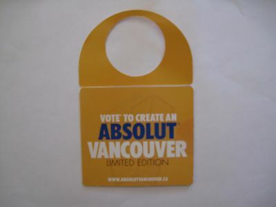 ABSOLUT VANCOUVER NECK TAG - 1st revision