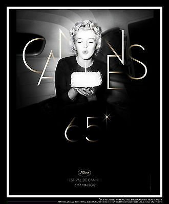 "CANNES FILM FESTIVAL 2012 MARYLIN MONROE 23"" x 31"" Movie Poster Original"