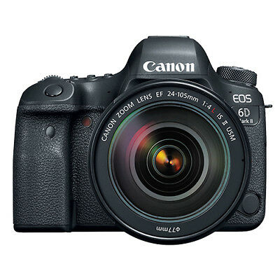 Canon EOS 6D Mark II Full Frame 26.2MP DSLR Camera with EF 24-105mm II USM Lens