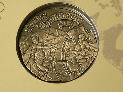 Houses Of Lancaster York,Battle of Agicourt 1415 Silver Coin Royal Mint #G7232