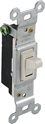 GE 18268 15A/120VAC Household Single Pole Toggle Switch, Light Almond