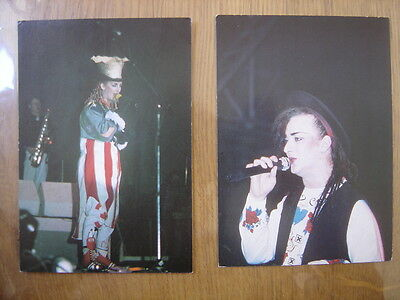 2 cartes postales Postcard CULTURE CLUB BOY GEORGE Nugeron editions