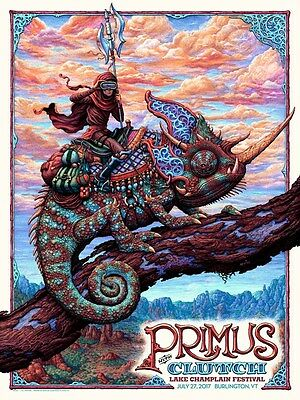 Primus Poster 7/27/2017 Burlington VA Signed & Numbered #/300