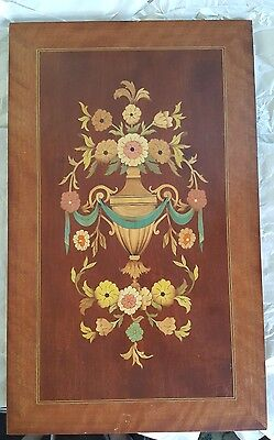 Vintage Marquetry Plaque made by William Bader of Asheville NC Signed