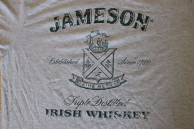 Jameson Irish Whiskey Men's XX LARGE (2XL) T Shirt Grey NEW