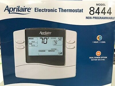 Brand NEW Aprilaire Electronic Thermostat Model 8444-in unopened Box!