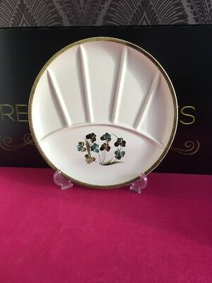 Denby shamrock crudite dish sectional canap s serving for Canape serving dishes