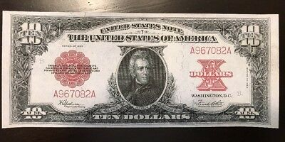 Reproduction $10 Bill 1923 Poker Chip Back United States Note USA Jackson