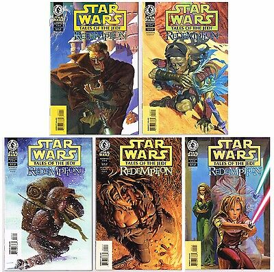 Star Wars: Tales of the Jedi - Redemption complete miniseries run #1-5 full set