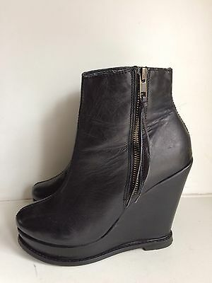 next black wedge ankle boots size 8 163 0 99 picclick uk